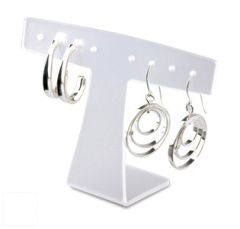 T Shaped Earring Display - Clear