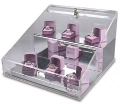 Angled Lockable Showcase
