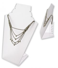 Necklace Display with Rear Supports